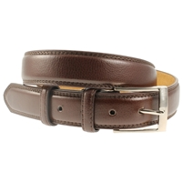 Brown Stitched Belt 35mm Wide - Medium - 110cm