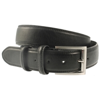 Black Padded & Stitched Belt 35mm Wide - X Large - 120cm