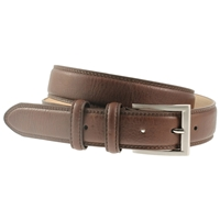 Brown Padded & Stitched Belt 35mm Wide - XX large - 125cm