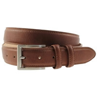 Tan Padded & Stitched Belt 40mm Wide - XX large - 125cm