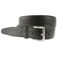 Black Stitched Belt 35mm Wide - X Large - 120cm