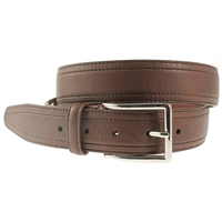 Brown Stitched Belt 35mm Wide - XX large - 125cm