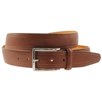 Cognac Stitched Belt 35mm Wide - Medium - 110cm