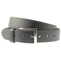 Black Leather Belt 35mm Wide - XX large - 125cm