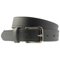 Black Leather Belt 40mm Wide - Medium - 110cm