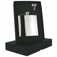 6oz High Polish Hip Flask Set Stainless Steel