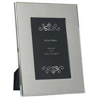 4x6 Inch Silver Plated Plain Wide Picture Frame