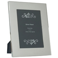 5x7 Inch Silver Plated Plain Wide Picture Frame