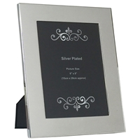 6x8 Inch Silver Plated Plain Wide Picture Frame