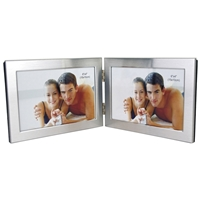 4x6 Inch Hinged Aluminium Twin Picture Frame