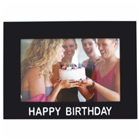 6x4 Inch Happy Birthday Picture Frame Black