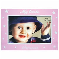 6x4 Inch Pink Princess Baby Picture Frame