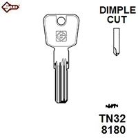 Silca TN32, Titan Security Dimple Blank,