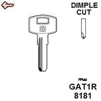 Silca GAT1R, Gatemate Security Dimple Blank