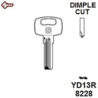 Silca YD13R, Yardeni Dimple Security Cylinder Blank JMA YAR3,