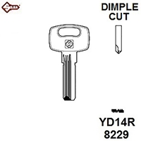 Silca YD14R, Yardeni Dimple Security Cylinder Blank JMA YAR4D,