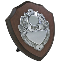 6 Inch Wooden Shield Stainless Steel Plate
