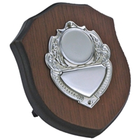 4 Inch Wooden Shield Stainless Steel Plate