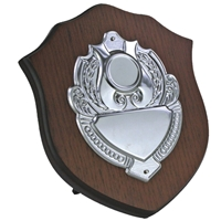 7 Inch Wooden Shield Stainless Steel Plate