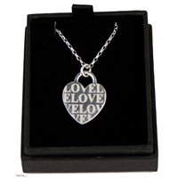 SH35 925 Silver LOVE Heart 18 Inch Chain