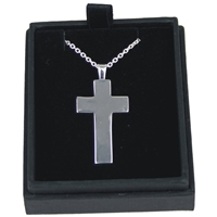 925 Silver Gents Cross On 20 Inch Chain