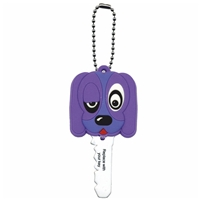 Key Dude - Purple Dog Key Cap With LED Light