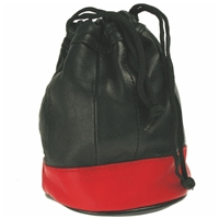 Lambskin Drawstring Dolly Bag Black Assorted Trim Colour