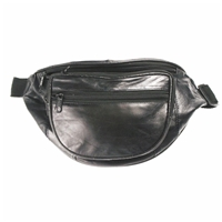 Leather Waist Bag Black Includes 3 Credit Card Slots