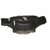Leather Waist Bag Black