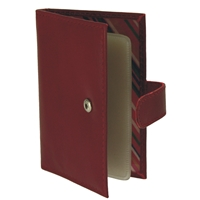 43059 Leather Credit Card Case Window & Tab. 6 Cols