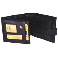 Nappa Leather Wallet With Tab Window, 3 Pockets 1 Zipped