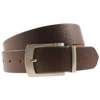 Quality Leather Belt 30mm Large Full Grain Brown