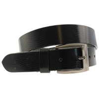 Quality Leather Belt 35mm Large Full Grain Black