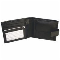 Nappa Leather Wallet With Tab Coin Pocket & Zip