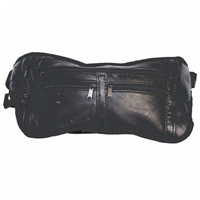 Flat Leather Bumbag Black