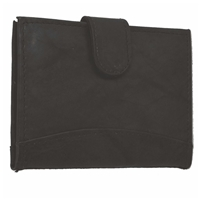 Cowhide Credit Card Case With Tab Black