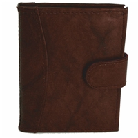 Cowhide Credit Card Case With Tab Brown