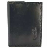Cowhide Credit Card Case With Back Window