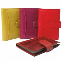 Cowhide Credit Card Case With Tab and 14 Card Sleeves