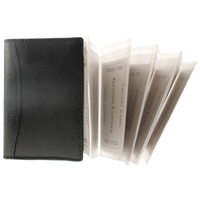 Cowhide Credit Card Holder With 10 Pull Out Card Sleeves