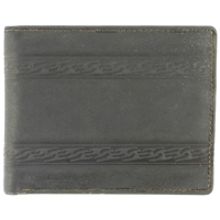 Hunter Leather, Suede Finish Wallet.Black
