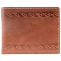 Hunter Leather, Burnished Finish Wallet.Tan