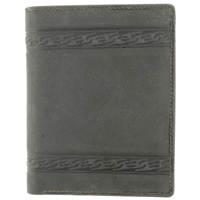 Hunter Leather, Suede Finish Large Wallet.Black