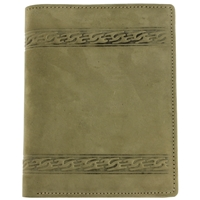 Hunter Leather, Suede Finish Large Wallet.Green