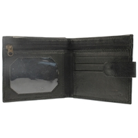 Nappa Wallet With Back Window Black