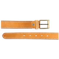 Full Grain Leather Belt With Contrasting Stitching 35mm Medium Tan