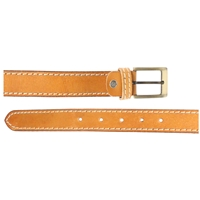 Full Grain Leather Belt With Contrasting Stitching 40mm Medium Tan