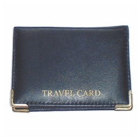 Leather Double Travel Card Holder With Metal Corners