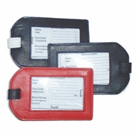 Leather Luggage Labels 4.5 x 3 Inch
