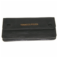 Premium Tobacco Pouch Black Leather. 6.25 x 3.25 Inch